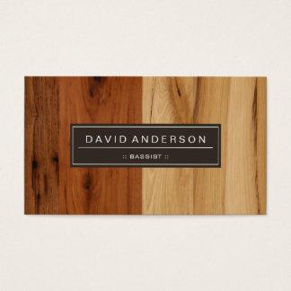 Bajista - mirada de madera del grano tarjeta de negocios