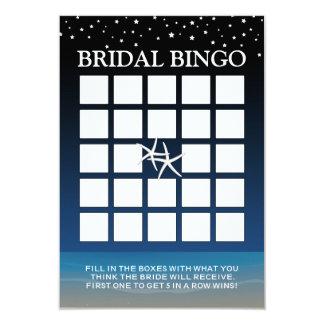 Bajo bingo nupcial de la ducha de la playa de las invitación 8,9 x 12,7 cm