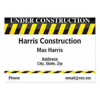 Bajo construcción tarjeta de visita