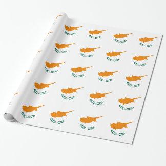 ¡Bajo costo! Bandera de Chipre Papel De Regalo