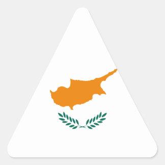 ¡Bajo costo! Bandera de Chipre Pegatina Triangular