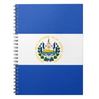 ¡Bajo costo! Bandera de El Salvador Cuaderno