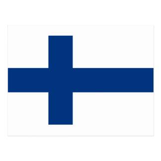 ¡Bajo costo! Bandera de Finlandia Postal