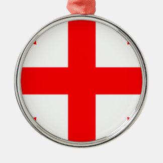 ¡Bajo costo! Bandera de Georgia Adorno Navideño Redondo De Metal
