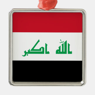 ¡Bajo costo! Bandera de Iraq Adorno Navideño Cuadrado De Metal