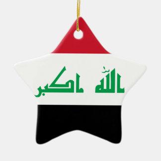 ¡Bajo costo! Bandera de Iraq Adorno Navideño De Cerámica En Forma De Estrella