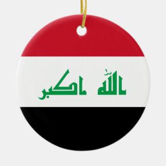 ¡Bajo costo! Bandera de Iraq Adorno Navideño Redondo De Cerámica