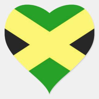 ¡Bajo costo! Bandera de Jamaica Pegatina En Forma De Corazón