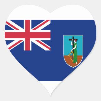 ¡Bajo costo! Bandera de Montserrat Pegatina En Forma De Corazón