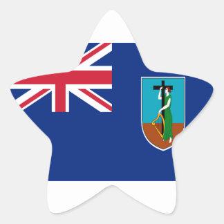 ¡Bajo costo! Bandera de Montserrat Pegatina En Forma De Estrella