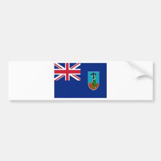 ¡Bajo costo! Bandera de Montserrat Pegatina Para Coche