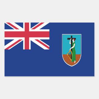 ¡Bajo costo! Bandera de Montserrat Pegatina Rectangular