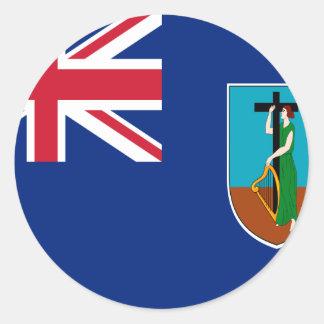¡Bajo costo! Bandera de Montserrat Pegatina Redonda
