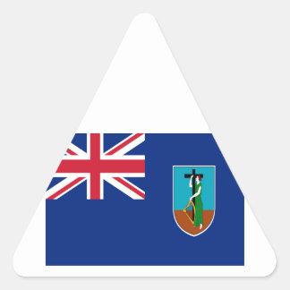 ¡Bajo costo! Bandera de Montserrat Pegatina Triangular