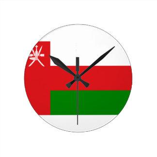 ¡Bajo costo! Bandera de Omán Reloj Redondo Mediano