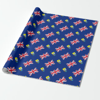 ¡Bajo costo! Santa Helena, bandera de Tristan de Papel De Regalo