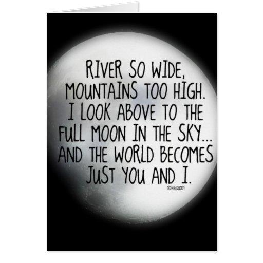Bajo mismo poema de la luna tarjeta