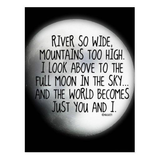 Bajo mismo poema de la luna tarjetas postales