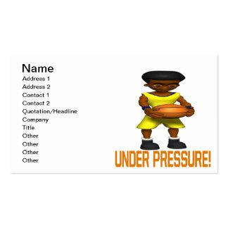 Bajo presión tarjetas de visita