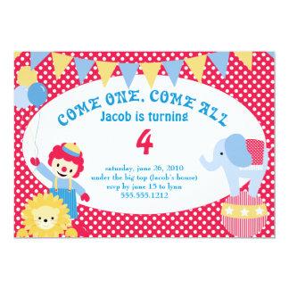 bajo top grande - el cumpleaños de los niños invitación 12,7 x 17,8 cm
