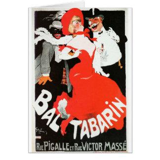 Bal del cabaret de la vida de noche de París del Tarjeta De Felicitación