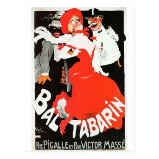 Bal del cabaret de la vida de noche de París del Postal
