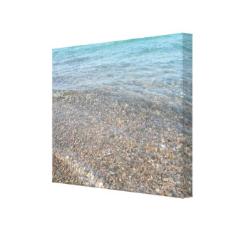 Balanceo del agua adentro impresión en lienzo