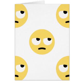 balanceo del ojo del emoji tarjeta de felicitación