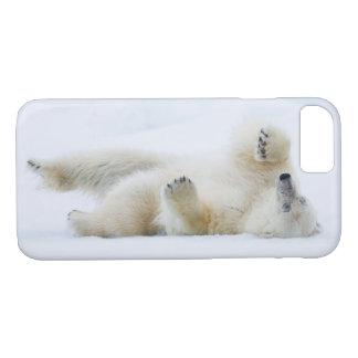 Balanceo del oso polar en la nieve, Noruega Funda Para iPhone 8/7
