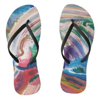 balanceos abstractos coloridos de la pintura chanclas