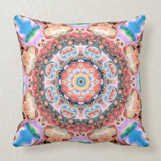 Balanza de formas en colores pastel cojín decorativo