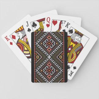 balcans populares del traje del adorno del símbolo cartas de juego