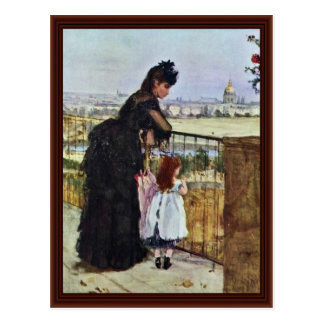 Balcón de Morisot Berthe Postal