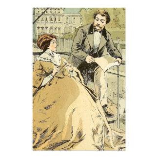 Balcón en Rue de Rivoli 1864 Papeleria