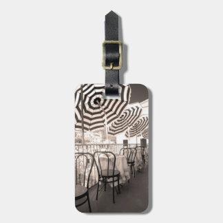 Balcón pintoresco del restaurante, Italia Etiqueta Para Maletas