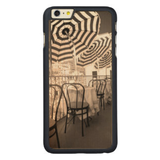 Balcón pintoresco del restaurante, Italia Funda Fina De Arce Para iPhone 6 Plus De Carved