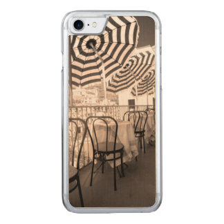 Balcón pintoresco del restaurante, Italia Funda Para iPhone 8/7 De Carved