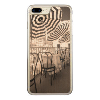 Balcón pintoresco del restaurante, Italia Funda Para iPhone 8 Plus/7 Plus De Carved