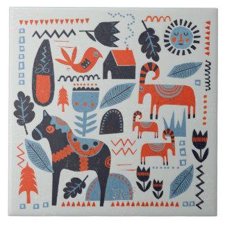 Baldosa cerámica - colección escandinava