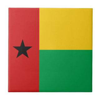 Baldosa cerámica de la bandera de Guinea-Bissau Azulejo Cerámica