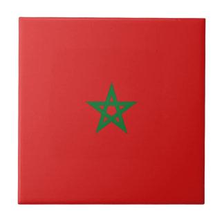Baldosa cerámica de la bandera de Marruecos Azulejo Cuadrado Pequeño