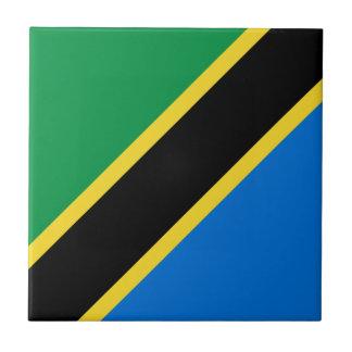 Baldosa cerámica de la bandera de Tanzania Azulejo Cuadrado Pequeño