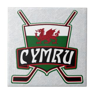 Baldosa cerámica de la bandera del hockey sobre