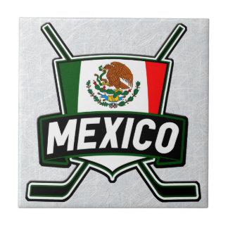 Baldosa cerámica de la bandera mexicana del hockey