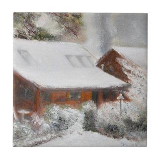 Baldosa cerámica de la cabina nevada de Lincoln