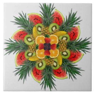 Baldosa cerámica de la fruta anaranjada del azulejo cuadrado grande