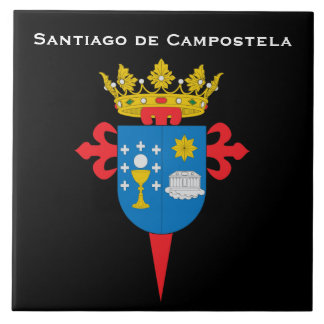 Baldosa cerámica de Santiago de Campostela* España Azulejo Cuadrado Grande