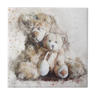 Baldosa cerámica decorativa dulce del oso de