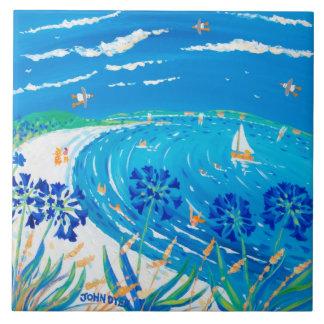 Baldosa cerámica del arte: Opinión del azul de