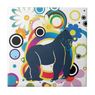 Baldosa cerámica del gorila abstracto